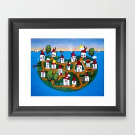 Dream House Island Framed Art Print