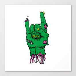 Zombie hand, Canvas Print
