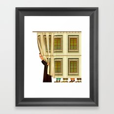 Behind the curtain Framed Art Print