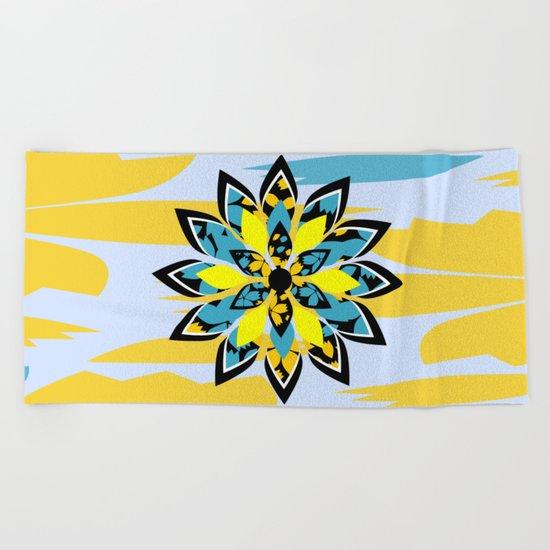Tropical flower Beach Towel