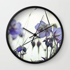 Sunlit meadow Crane's-bill Wall Clock