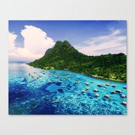 Sea Coral Tropical Island Canvas Print