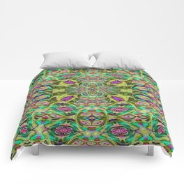 Psychedelic geometry pattern (Acid session vol.1) Comforters