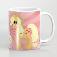 mlp Mugs featuring MLP FiM: Applejack by Yiji
