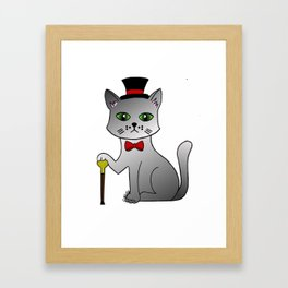 Sir cat! Framed Art Print