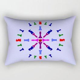 Chess Piece Design Rectangular Pillow