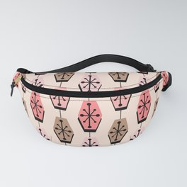 Mid Century Modern Hexagons Pink Fanny Pack