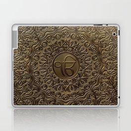 Decorative Ek Onkar / Ik Onkar  embossed on gold Laptop & iPad Skin