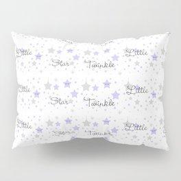 Twinkle Little Star Purple Baby Girl Nursery  Pillow Sham