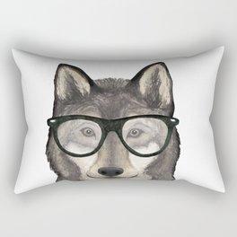 Hipster Wolf Rectangular Pillow