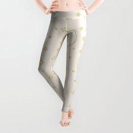 Celestial Pearl Moon & Stars Leggings