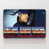 metal gear solid iPad Cases featuring Metal Gear Solid 80's Version by LoweakGraph