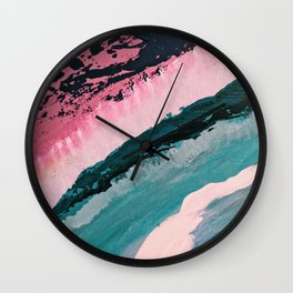 ECHO BEACH BABY | Acrylic abstract art by Natalie Burnett Art Wall Clock