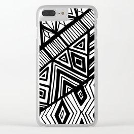 Original Geometric ink-pen print Clear iPhone Case