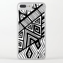 Original Geometric ink-pen print Clear iPhone Case