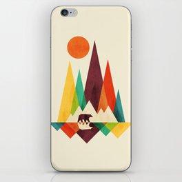 Bear In Whimsical Wild iPhone Skin