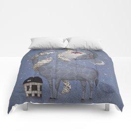 Giraffe in the Night Comforters