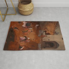 """Hieronymus Bosch """"The Last Judgment"""" triptych (Bruges) right panel Rug"""