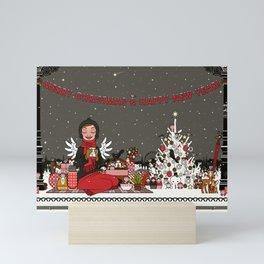 Lily picnics Mini Art Print