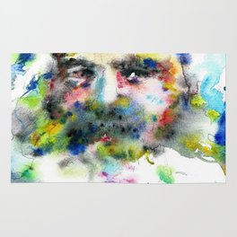 KARL MARX - watercolor portrait .3 Rug
