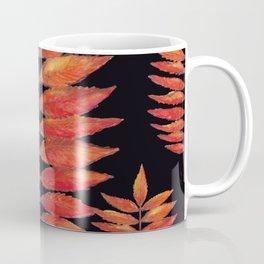 Staghorn Sumac leaves on Black Coffee Mug