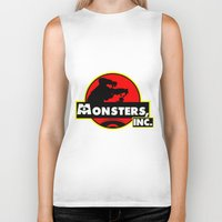 monsters inc Biker Tanks featuring Monsters, Inc Logo.  by Gary Wood