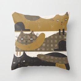 TRIPLE DECKER Throw Pillow