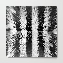 169 - Black and white spikey stripes Metal Print
