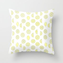Sweet Citrus Mix Throw Pillow