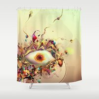 third eye Shower Curtains featuring Third Eye by Igor Šćekić