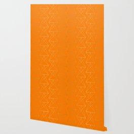 Orange Geometric Triangles Wallpaper