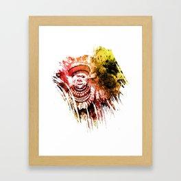 traditional beauty brush1 Framed Art Print