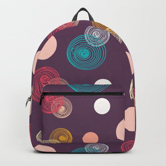 Colorful Scrawled Polka Dots Backpack