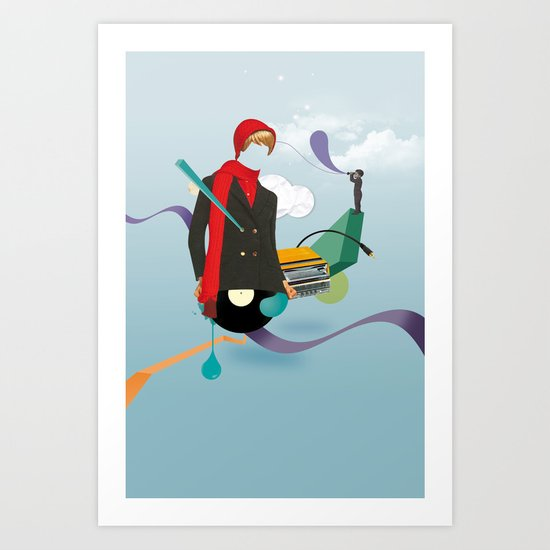 ILOVEMUSIC #6 Art Print