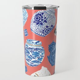 Chinoiserie Curiosity Cabinet Toss 3 Travel Mug