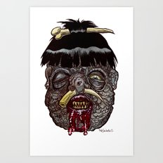 Heads of the Living Dead Zombies: Head Hunter Zombie Art Print