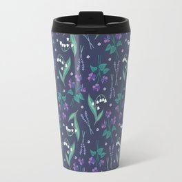 Violets, Lavender and Lily of the Valley Travel Mug