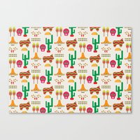 mexico Canvas Prints featuring Mexico by Ana Types Type
