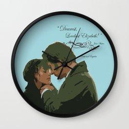 Dearest loveliest Elizabeth_Pride and Prejudice quote. Wall Clock