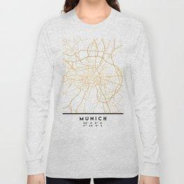 MUNICH GERMANY CITY STREET MAP ART Long Sleeve T-shirt