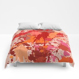 Painting Color splashes Comforters