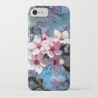 cherry blossoms iPhone & iPod Cases featuring Cherry Blossoms by Just Kidding