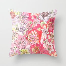 This Afternoon's Floral Throw Pillow