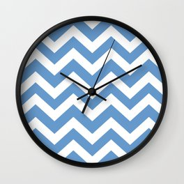 Livid - blue color - Zigzag Chevron Pattern Wall Clock