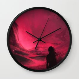 Pink plains Wall Clock