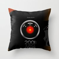 2001 a space odyssey Throw Pillows featuring 2001 - A space odyssey by Martin Woutisseth