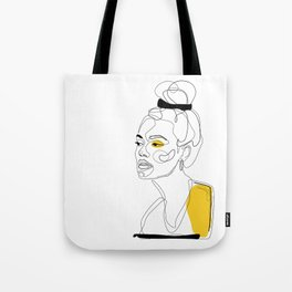 Yellow Sketch Tote Bag