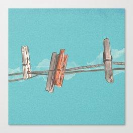 Boho Clothespin Canvas Print