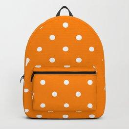 Polka Dots Pattern: Orange Backpack