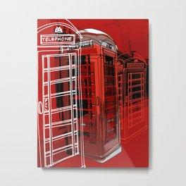 Phone Box Metal Print